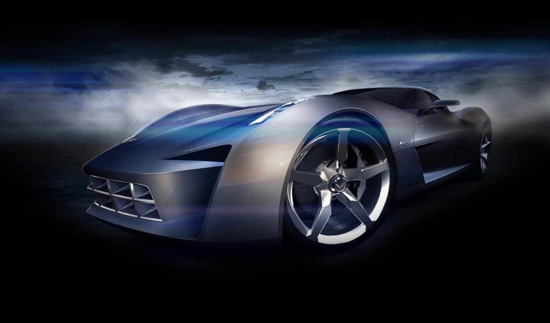 corvette, chevrolet, stingray, concept, car, cars, desktop, картинку, design, корвет,