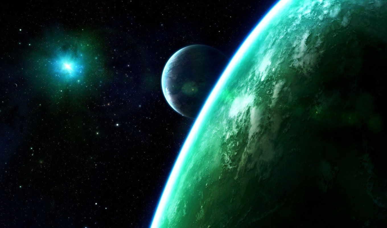 космос, планеты, фэнтези, галактика, звезды, картинка,