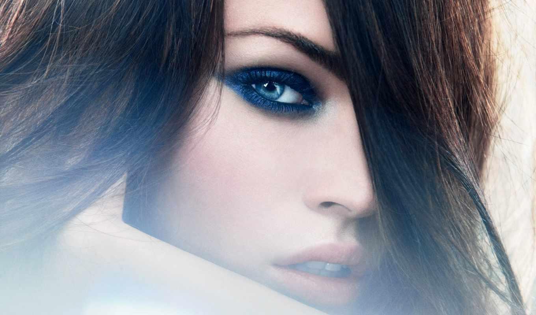 глаз, макияж, тонах, голубых, blue, pencil, свет, синих,