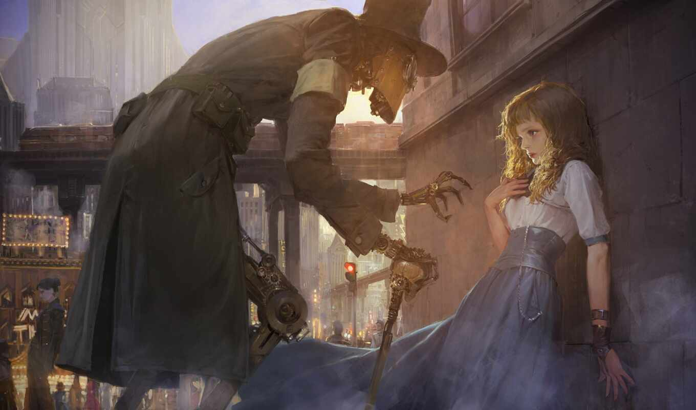 steampunk, доска, user, illustration