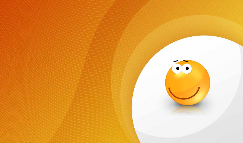 orange, smiley, desktop, download, free, smile, background, widescreen, graphics,