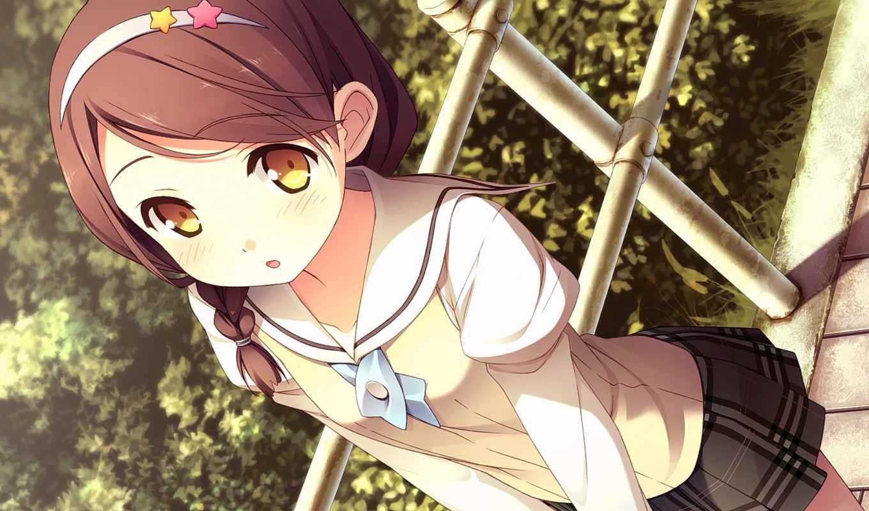 anime, ученица, девушка, взгляд, images, форма, школьная,