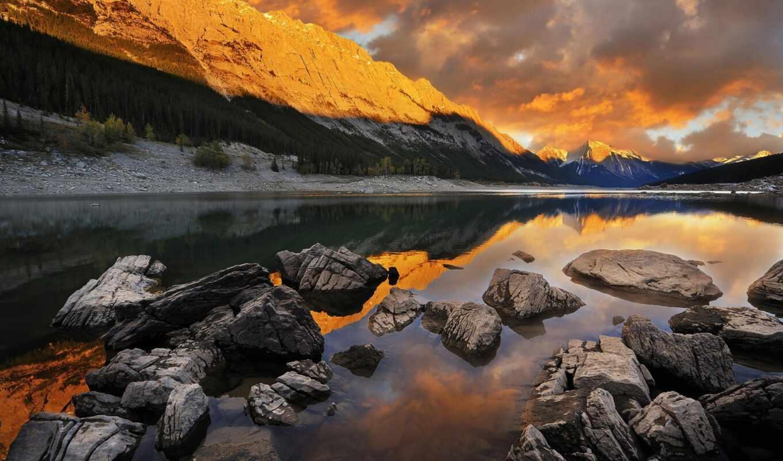 река, песочница, alive, красивый, tarn, айфон, заставка, осень, природа, art