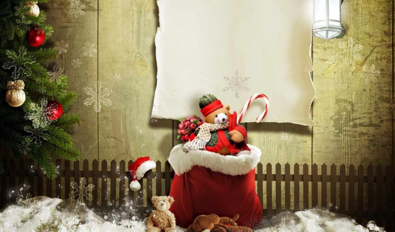 ёлка, мешок, фонарь, украшения, ёлочные, забор, новый, год, new, year, holiday, монитора, écran, смотрите, дек, hd, fonds, wallpapers, праздники, номером, другого, teddy, любого, планшета, смартфона,