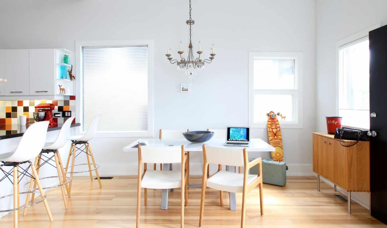 кухня, люстра, окна, барная, интерьер, стулья, сумка, стойка, картинка,