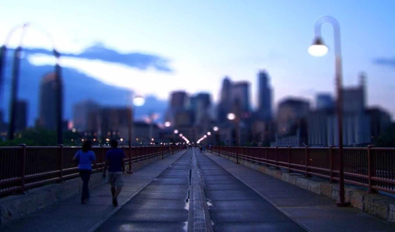 вечер, мост, фонари, fbrs,