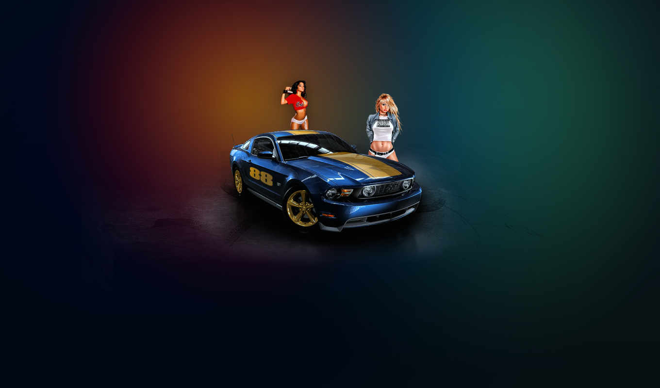 , ford, sexy, mustang, car, девушки, free,