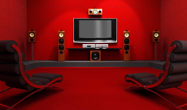 house, room, home, download, red, кресло, with, кинотеатр, динамики, вернуться, movies, красной, комнате, theater, акустика,
