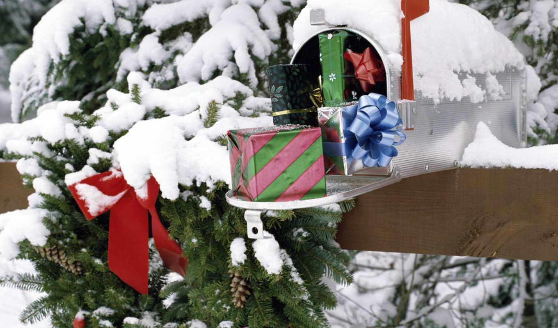 дерево, winter, год, new, снег, christmas, сувениры, дек, зимой,