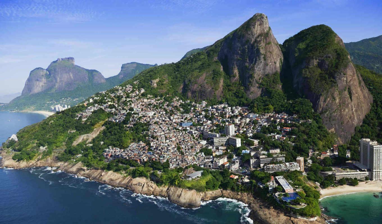 vidigal, rio, morro, voc, favela, uma, getty, praia
