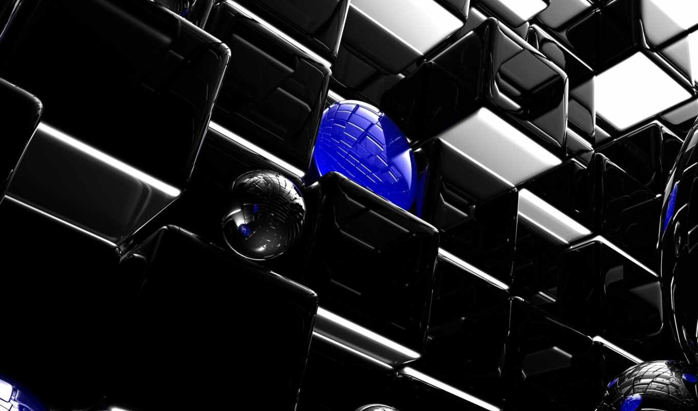 графика, design, art, black, cubes, spheres, background, free, абстракции, шары, кубы, abstract,