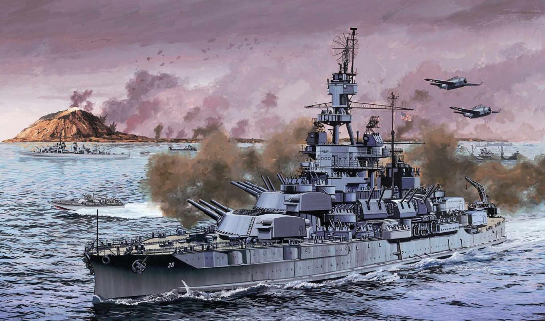 стандартный, линкор, bb, pennsylvania, американский, корабль, uss, флот, смотрите,