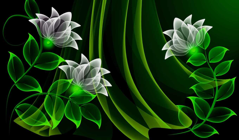 цветы, неоновые, фоны, flowers, мб, фон, neon, красивые, вектор,
