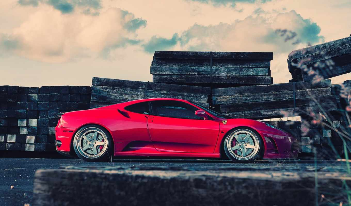 ferrari, red, daily, wheels, заставки, profile,