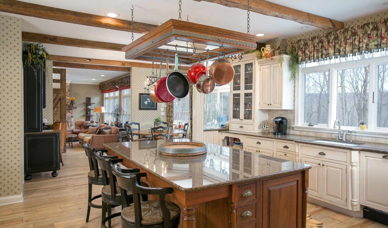 кухни, интерьеры, дома, отделка, товар, прошлого,
