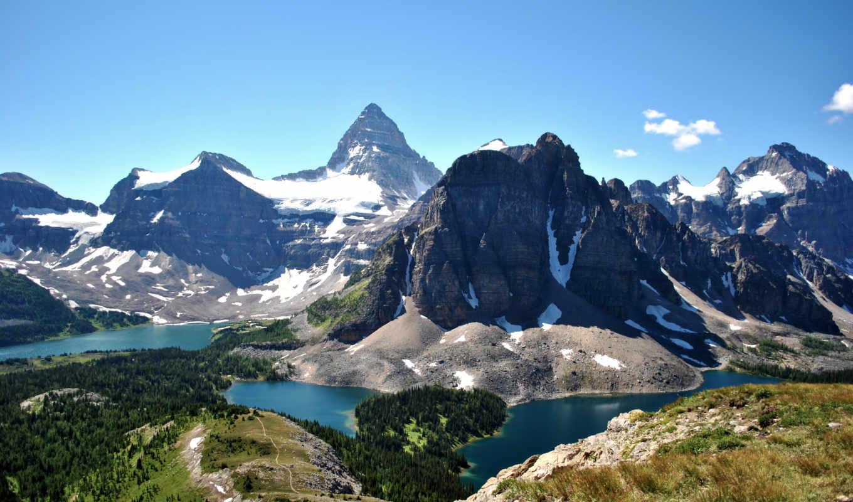 горы, вид, landscape, первую, озера, красивые, горы, жалюзи,