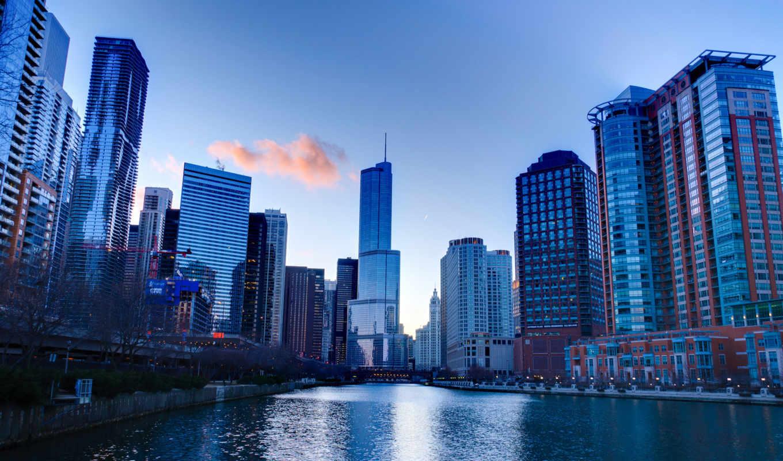 usa, chicago, america, здания, небоскребы, иллинойс,