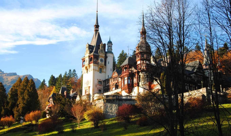 castle, romania, осень, пелеш,
