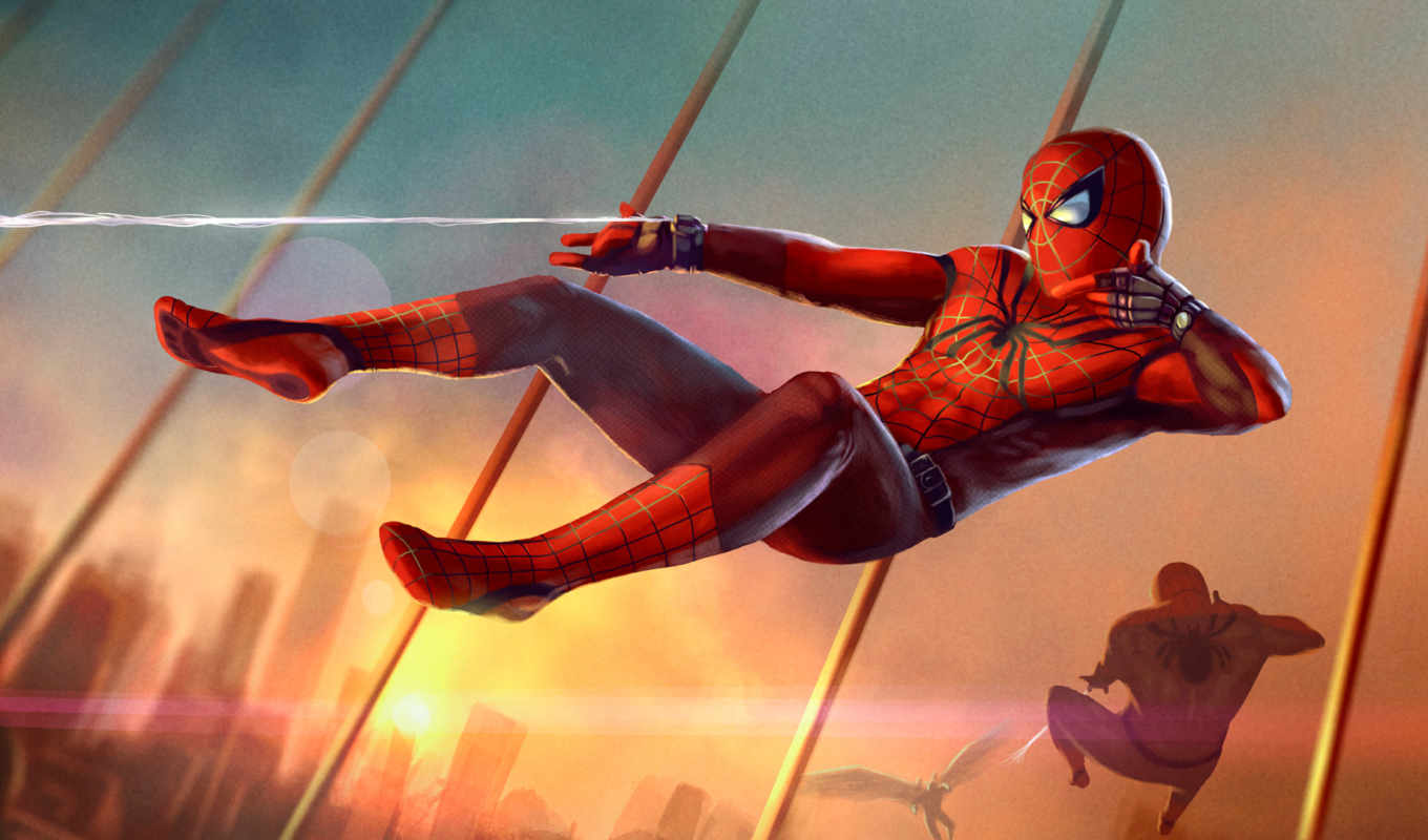 spiderman, мужчина, паук, homecoming, art, del, covers,