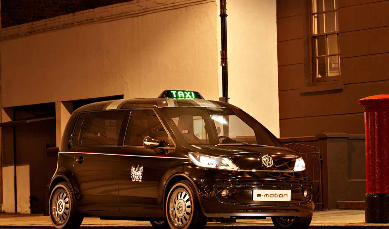 volkswagen, taxi, london, concept, the, фольксваге