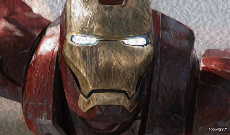 ironman, man, mask, iron, scratched,