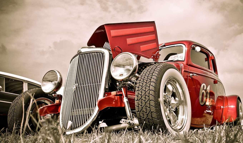 ретро, avto, автомобил, car, hot, колесо, фары,
