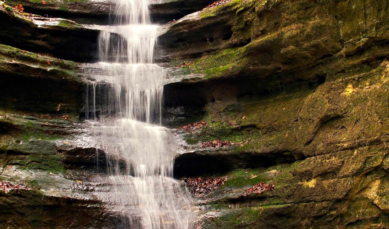 waterfall, водопад, мох, french, canyon, вода, каньон, скала, франция, поток, картинка, природа, иллинойс, nature, around, world, park, starved, illinois, фотографии, rock, state, изображение,