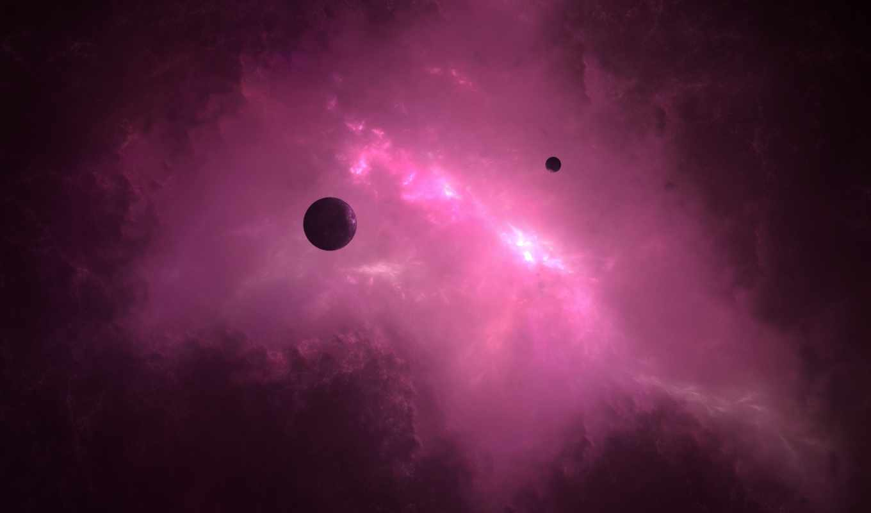 космос, планеты, свет, вселенная, галактика, картинка,