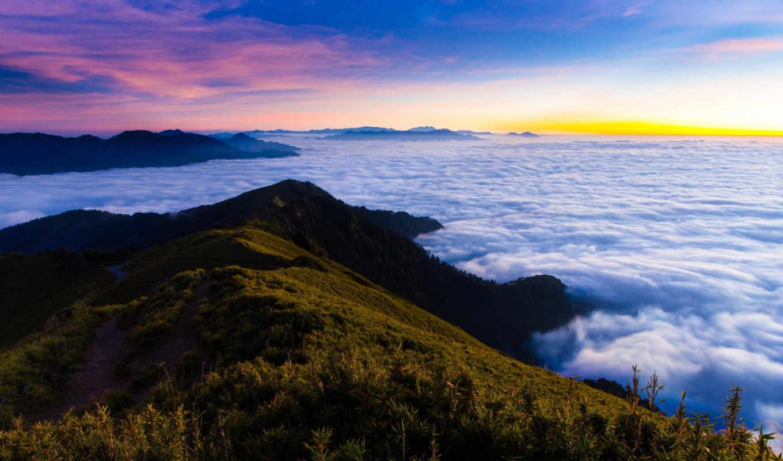 утро, туман, priroda, les, горы, янв, рассвет, пейзаж,