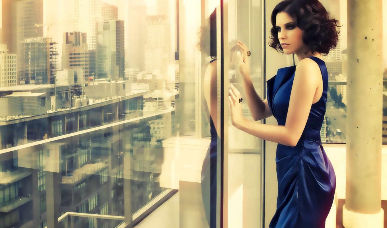 окна, девушка, близко,