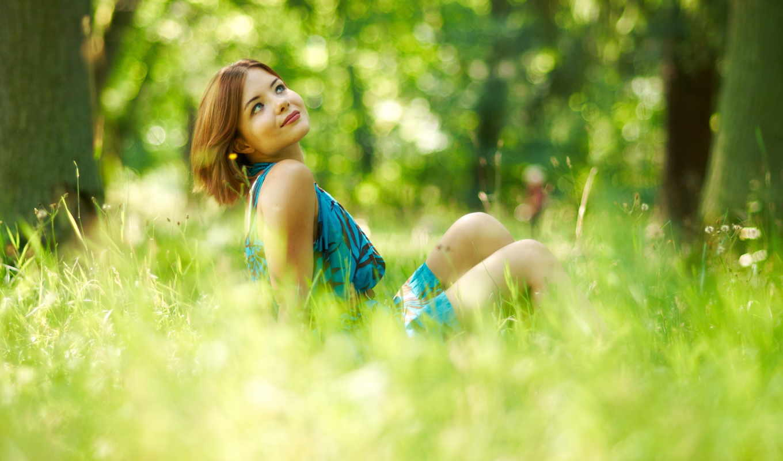 девушка, summer, фоны, свет, настроение, come, girls, поле, улыбка,