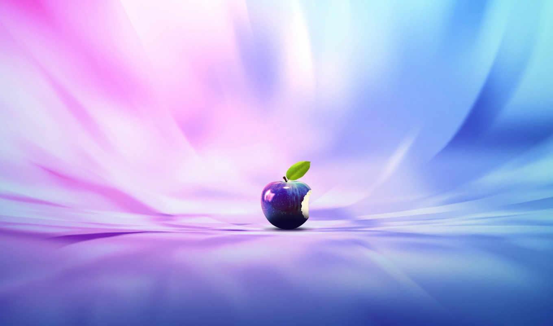 apple, logo, purple, abstract