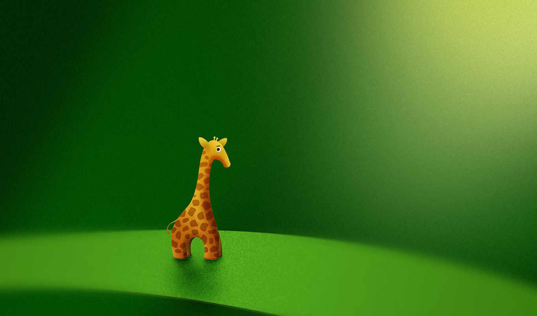 жираф, зеленый, игрушка, vladstudio, wallpaper, desktop, картинка,