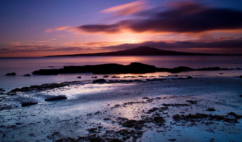 море, закат, пляж, пейзажи, природа, берег, landscape, desktop,