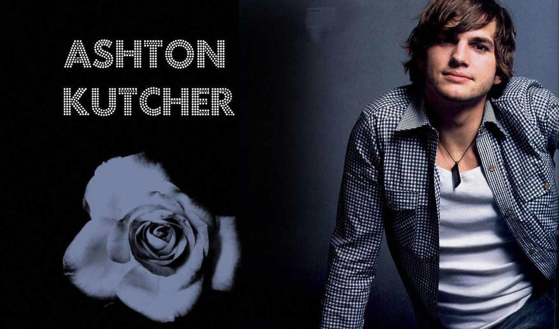 ashton, kutcher, white, shirt, чёрно, роза, белая,