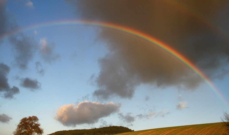 радуга, после, дождя, фотографии, neither, природы,