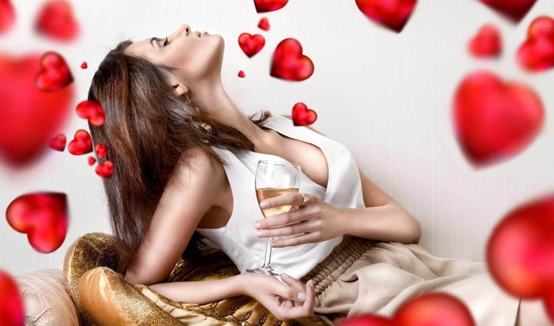 бокалом, вина, sexy, devushka, день, devushki, valentine, девушек, янв,