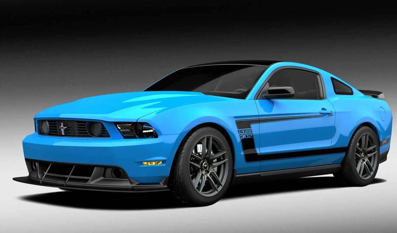 mustang, ford, blue, boss, car,
