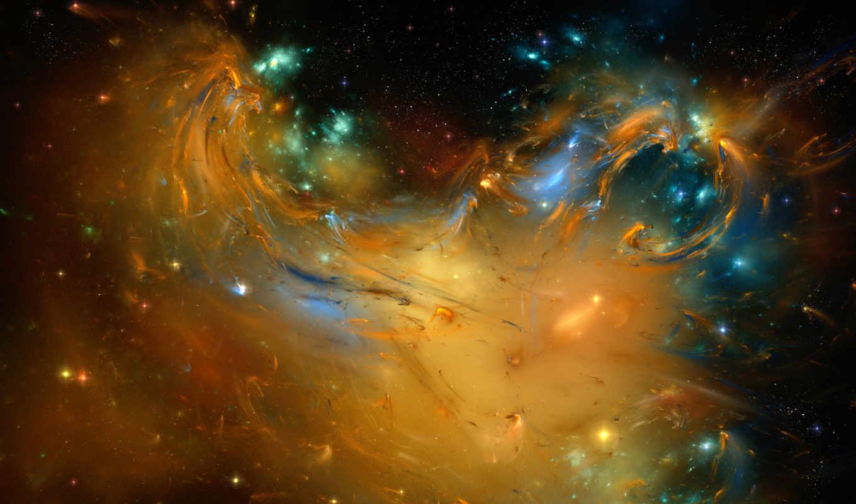 абстракция, краски, космос, картинка, картинку,