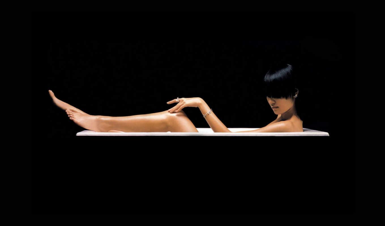 девушка, девушки, ванна, широкоформатные, креативные,