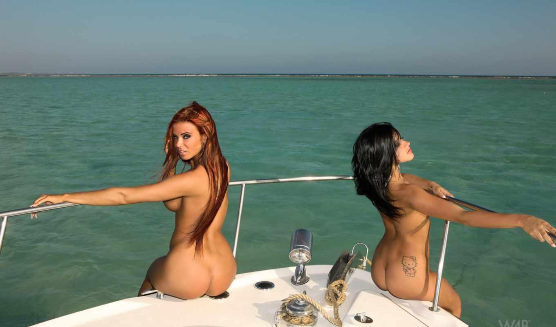 девушки, яхте, подборка, красивых, девушек, девушка,