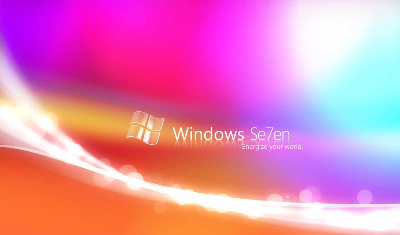 windows, se7en, лого, надпись, разноцветный