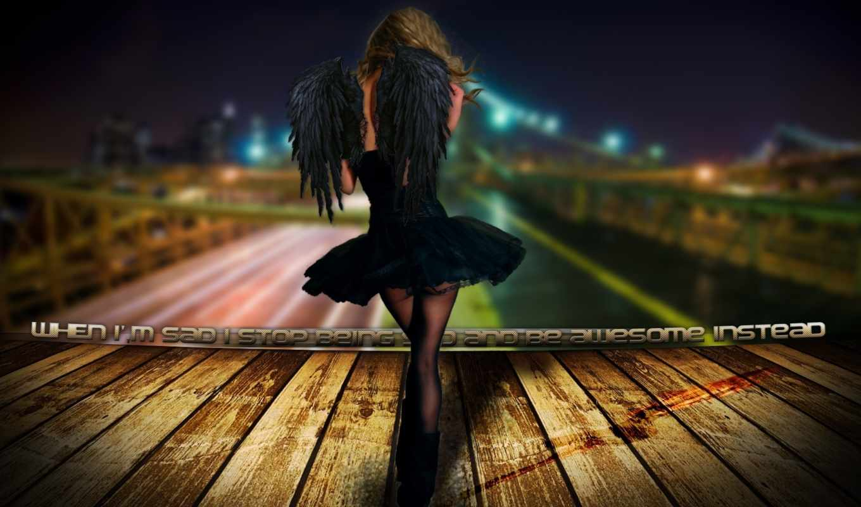 angel, девушка, devushki, ангелы, black, коллекция,