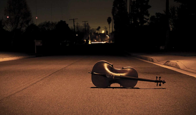 музыка, ночь, дорога, улица, песнь, свет, скрипка, настроение, инструмент,