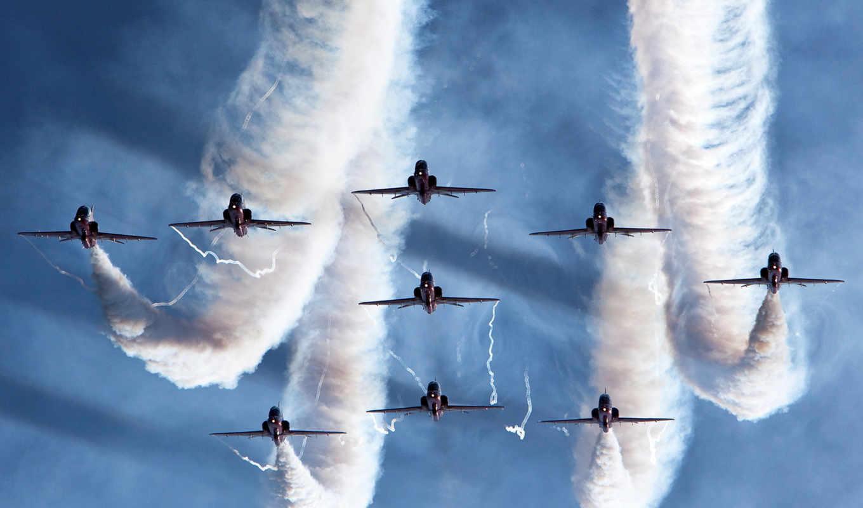 самолеты, авиация, самолёт, показать, display, небо, парад, самолетов, цветов,