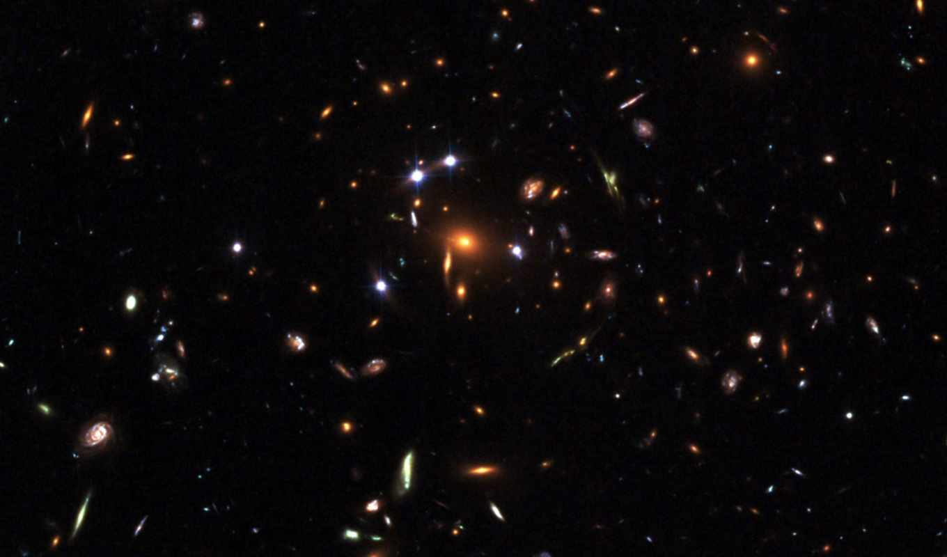 hubble, duvar, space, five, star, gravitational, lens, rated, galaxies, captures, outer, image, fantastik, kağıtları, quasar, you,