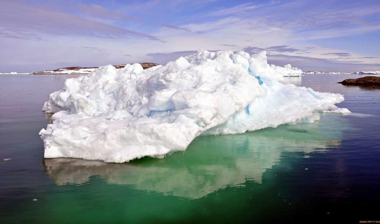 дек, glacier, природа, горы, лодка, февр, холод, трава,