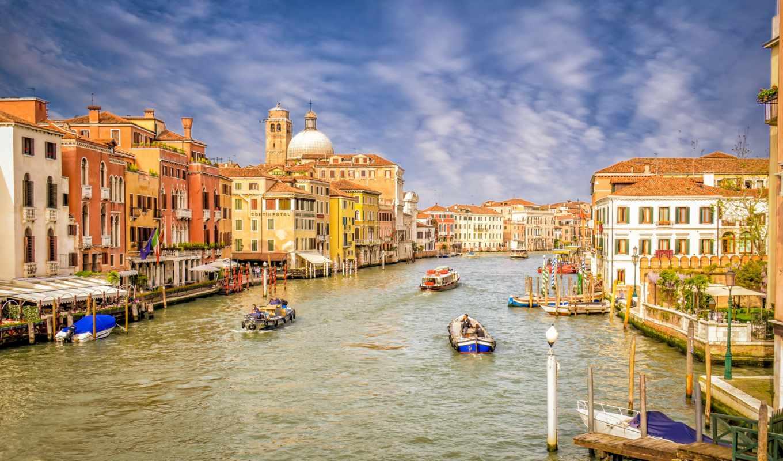 Обои Venezia, venice, italy, катер, канал, дома, венеция. Города foto 11