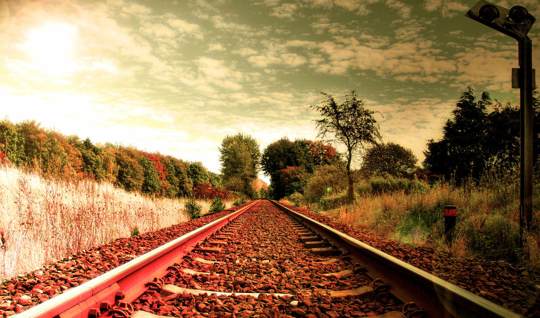 дорога, шпалы, рельсы, железная, railway, hdr, картинка, manzarasi, дороги, raylari, trên,