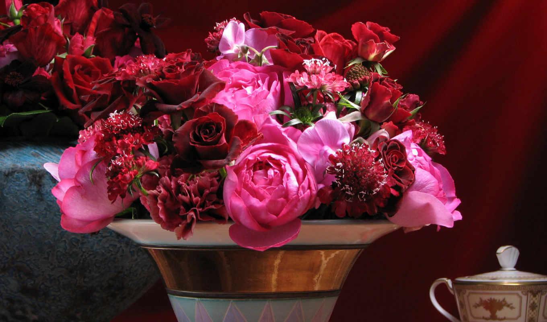 широкоформатные, цветы,